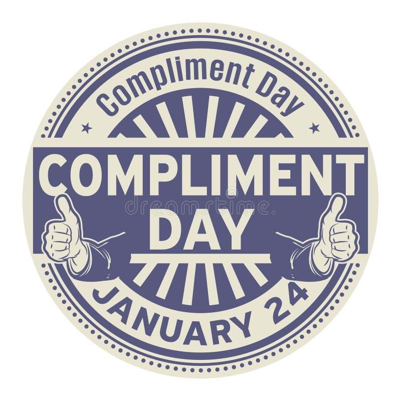 Giorno di complimento, il 24 gennaio illustrazione vettoriale