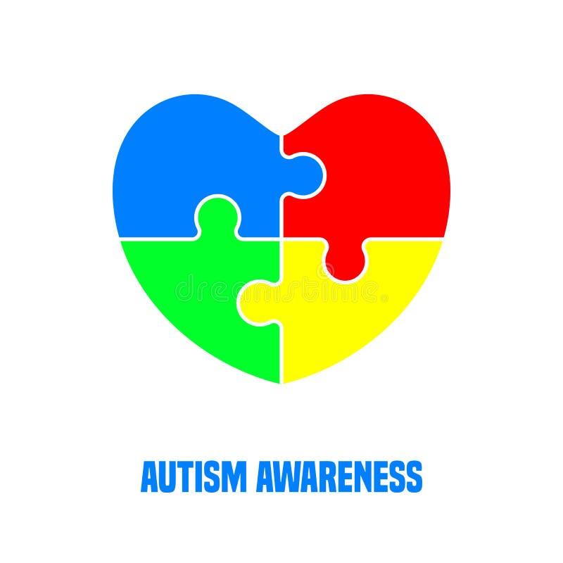 Giorno di consapevolezza di autismo illustrazione di stock