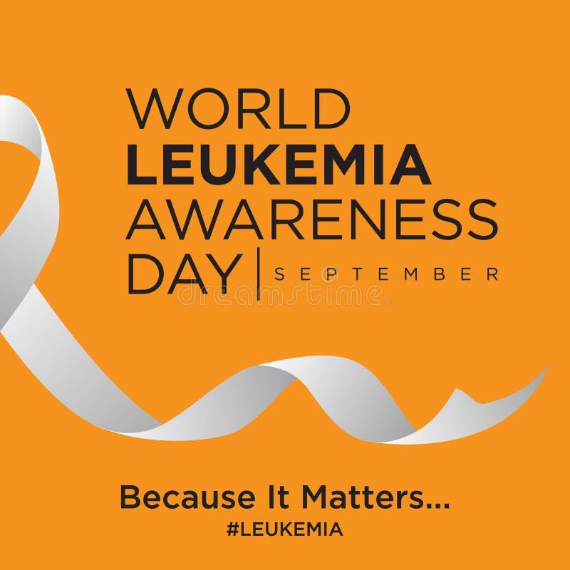 Giorno di consapevolezza di leucemia del mondo sui precedenti arancio royalty illustrazione gratis