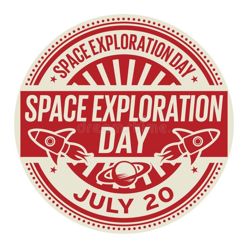 Giorno di esplorazione spaziale, il 20 luglio illustrazione di stock