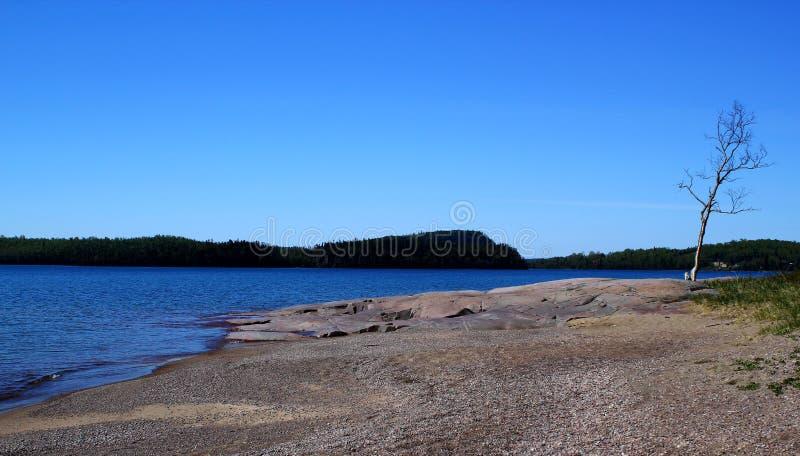 Giorno di estate meraviglioso: Bello lago in Ontario - Greate per la pesca, l'escursione e la canoa fotografia stock