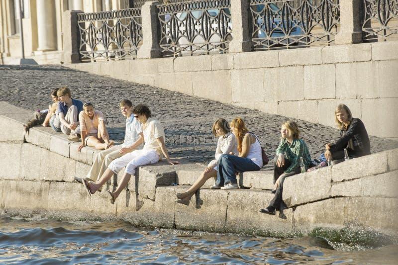 Giorno di estate in San Pietroburgo fotografia stock