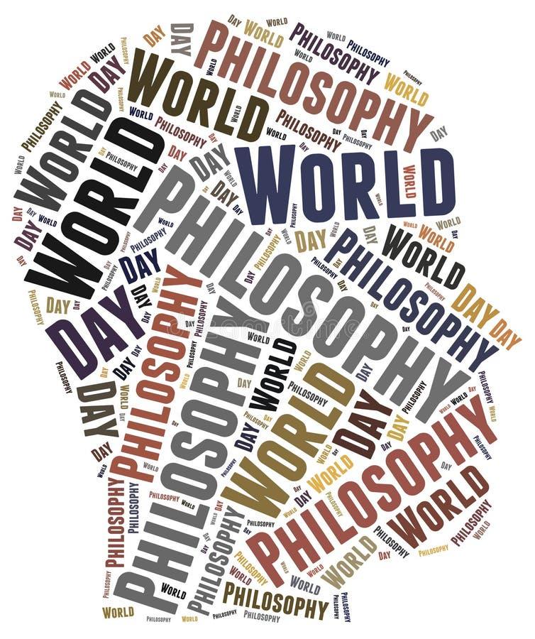 Giorno di filosofia del mondo illustrazione di stock