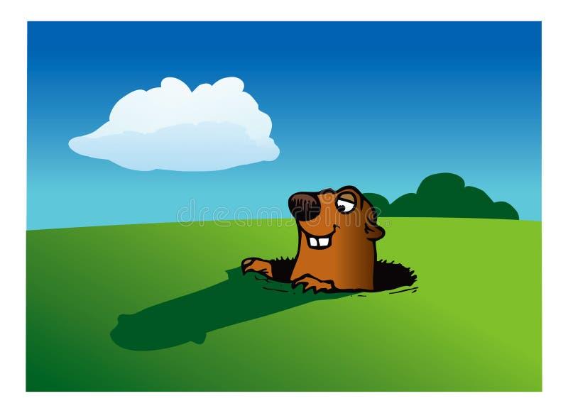 Giorno di Groundhog royalty illustrazione gratis
