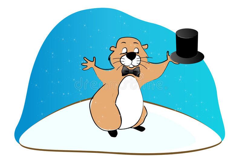 Giorno di Groundhog sveglio illustrazione vettoriale
