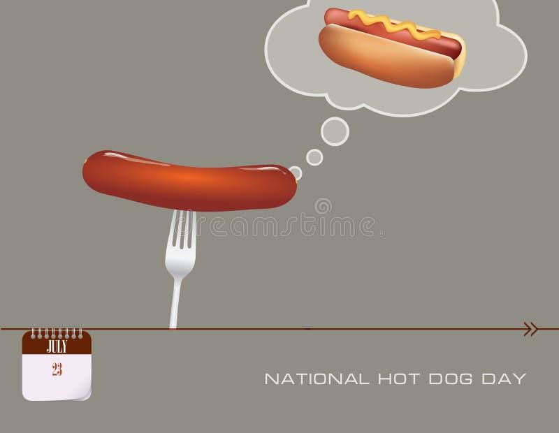 Giorno di hot dog della cartolina royalty illustrazione gratis