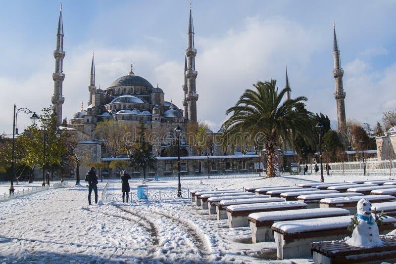 Giorno di inverno a Costantinopoli immagini stock