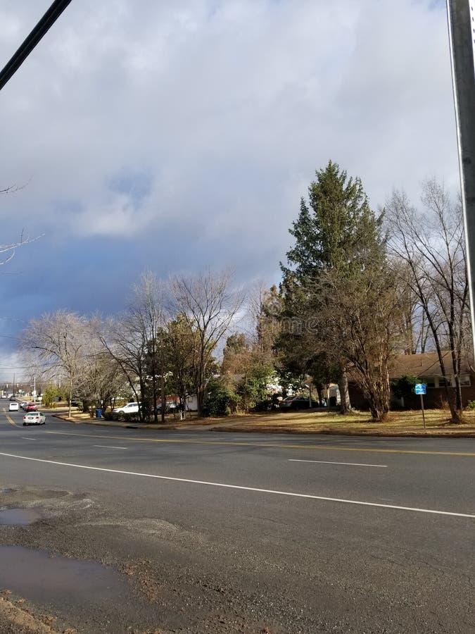 Giorno di inverno nuvoloso fotografie stock