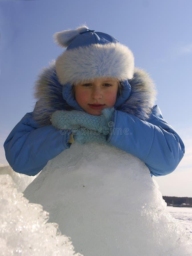 Giorno di inverno. Ragazza fotografia stock libera da diritti