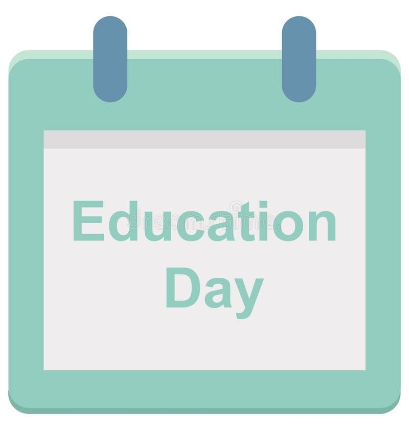 Giorno di istruzione, icona di vettore di giorno di evento speciale di giorno di istruzione che può essere modificata o pubblicar royalty illustrazione gratis