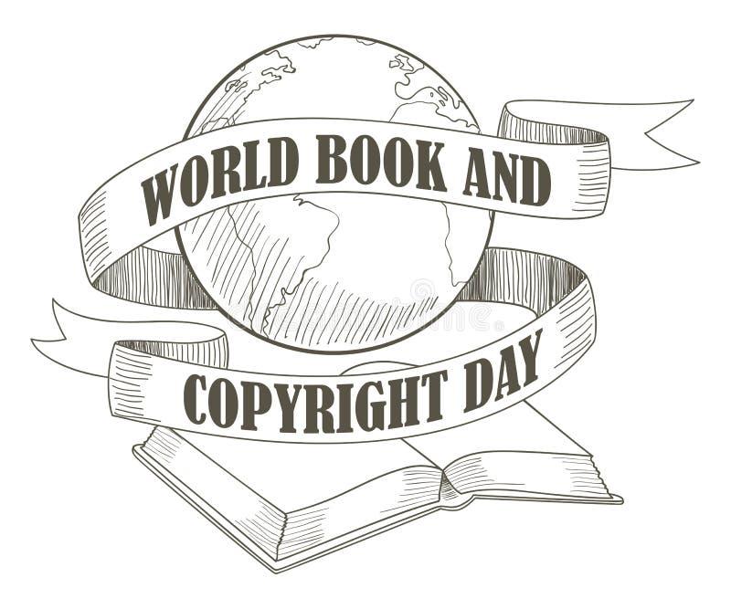 Giorno di libro e di copyright di mondo royalty illustrazione gratis