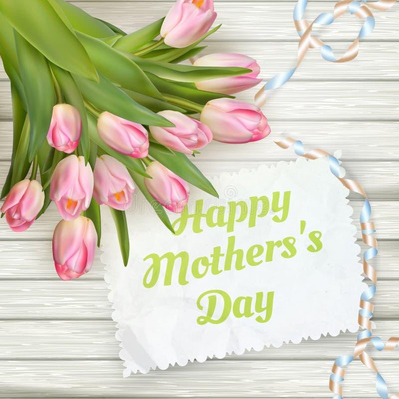 Giorno di madre felice ENV 10 illustrazione vettoriale