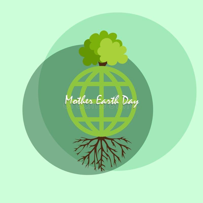 Giorno di madre Terra per terra verde illustrazione vettoriale