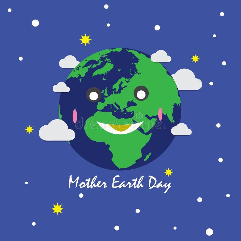 Giorno di madre Terra per terra verde royalty illustrazione gratis