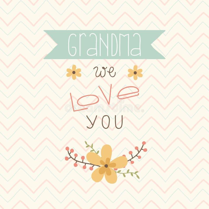 Giorno di madri felice Carta per la nonna royalty illustrazione gratis