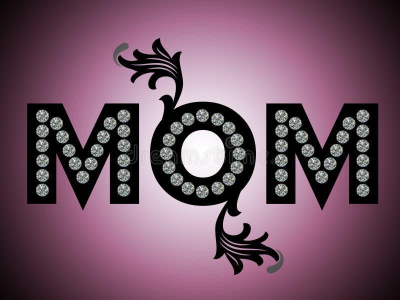 Giorno di madri felice, MAMMA illustrazione di stock