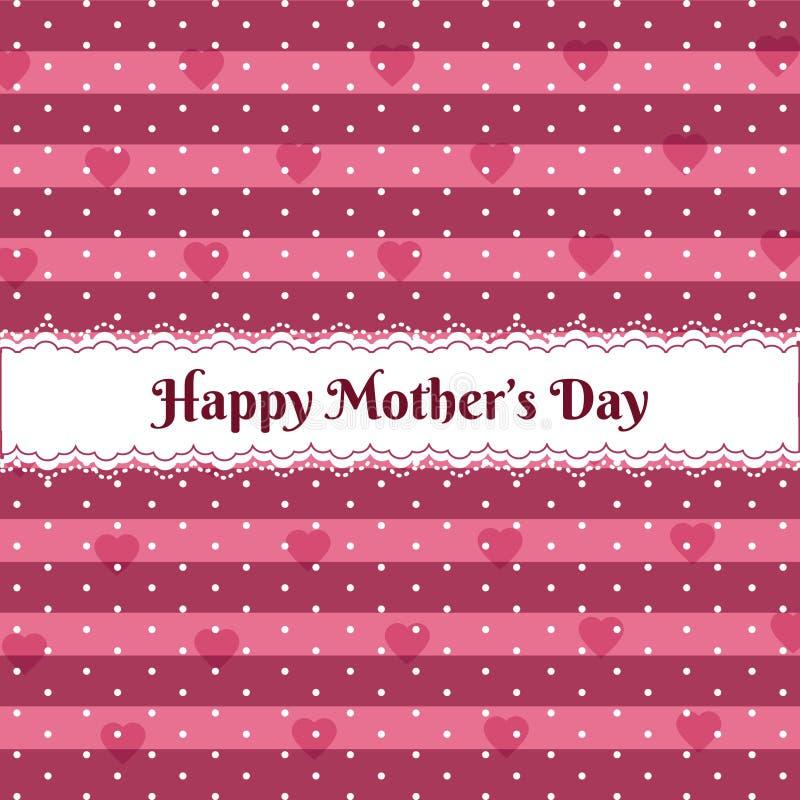 Giorno di madri felice sopra il modello sveglio illustrazione vettoriale