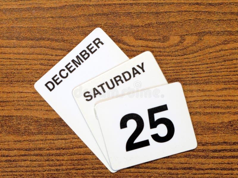 Giorno di Natale 2010 del calendario immagine stock libera da diritti