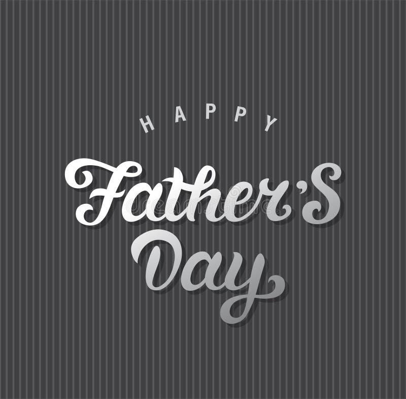 Giorno di padri felice illustrazione vettoriale