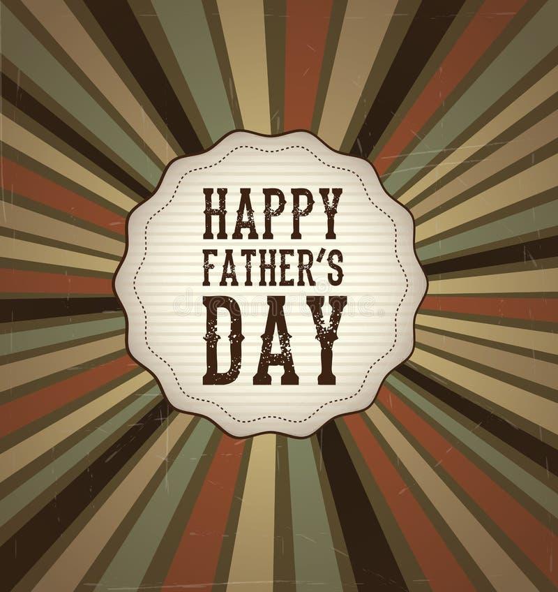 Giorno di padri felice illustrazione di stock