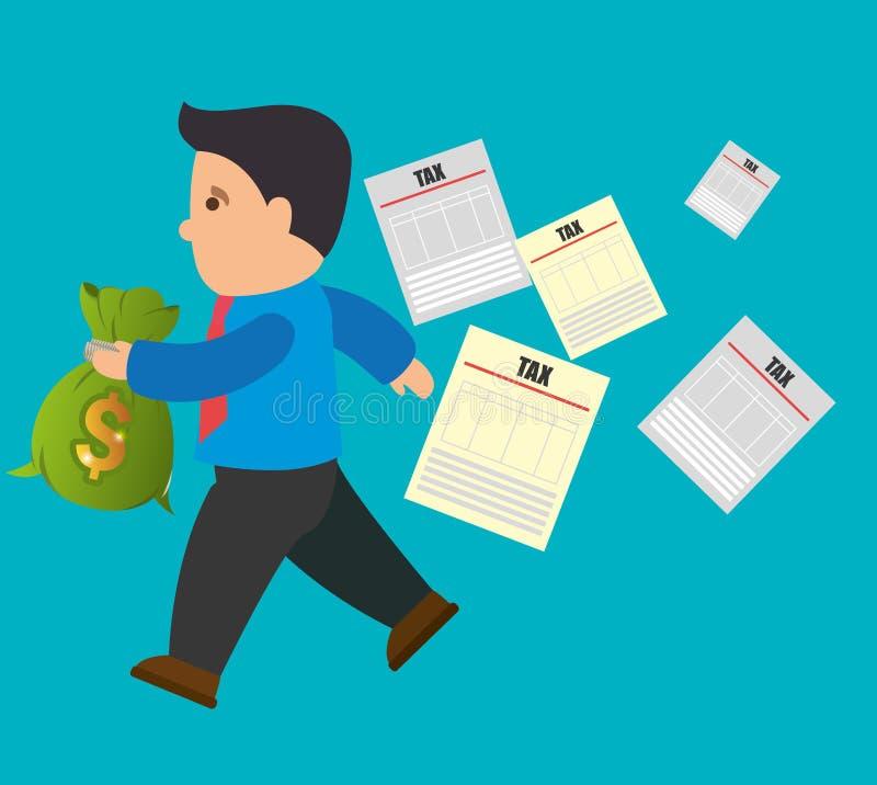 Giorno di pagamento di imposte illustrazione di stock