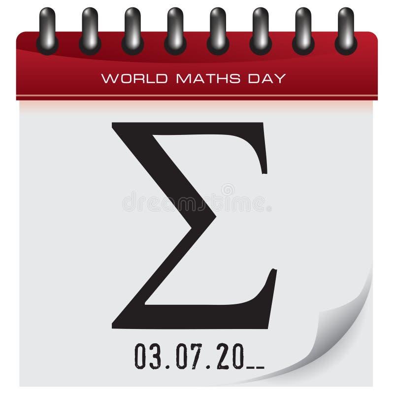 Giorno di per la matematica del mondo illustrazione vettoriale