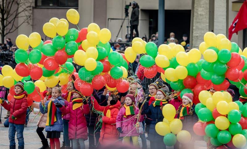 Giorno di ripristino di indipendenza della Lituania immagine stock libera da diritti
