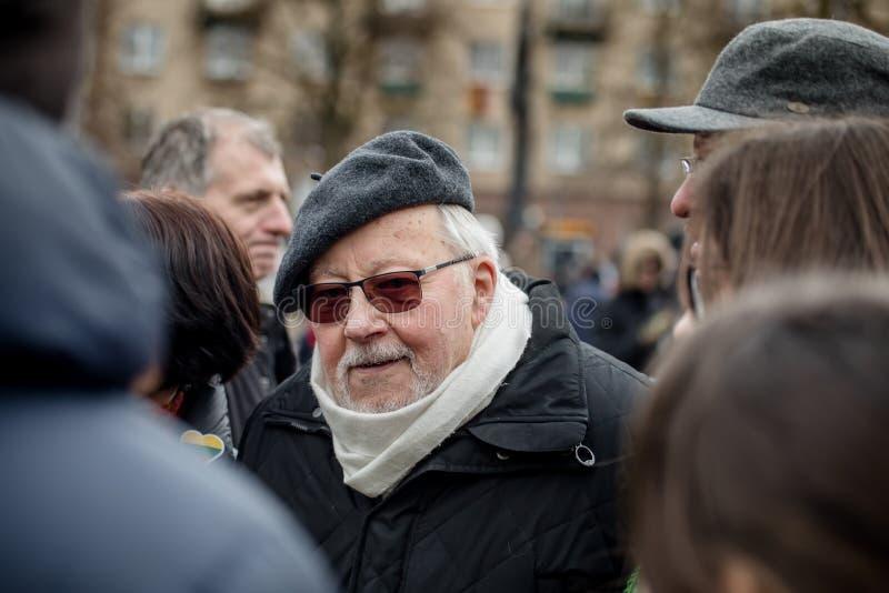Giorno di ripristino di indipendenza della Lituania fotografie stock libere da diritti