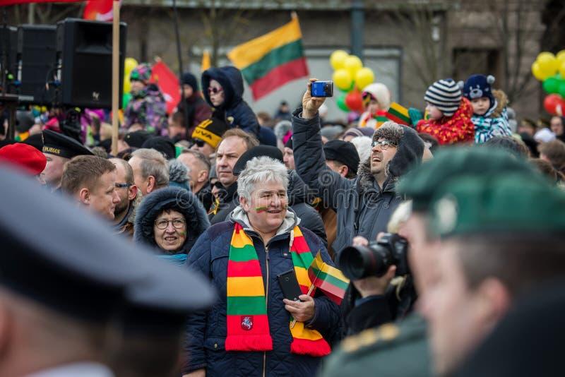 Giorno di ripristino di indipendenza della Lituania immagini stock libere da diritti