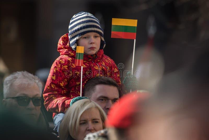 Giorno di ripristino di indipendenza della Lituania fotografie stock