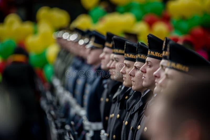 Giorno di ripristino di indipendenza della Lituania immagini stock