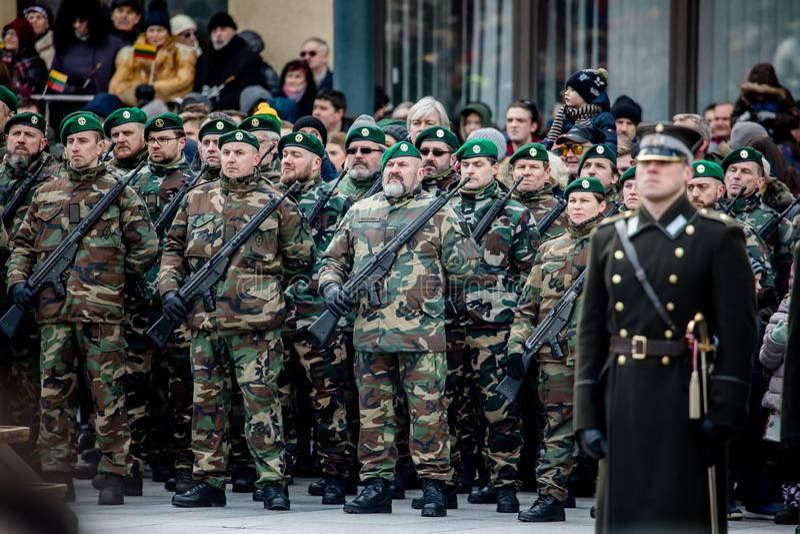 Giorno di ripristino di indipendenza della Lituania fotografia stock libera da diritti