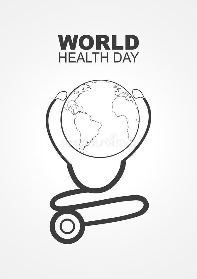 Giorno di salute di mondo royalty illustrazione gratis
