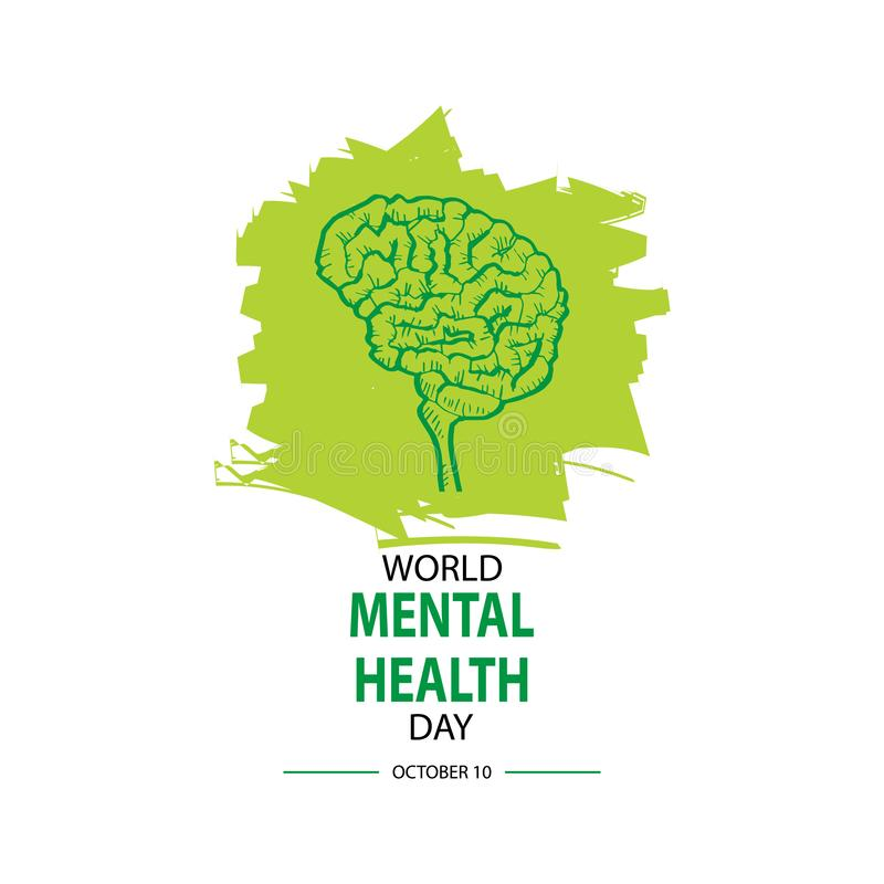 Giorno di salute mentale del mondo illustrazione vettoriale