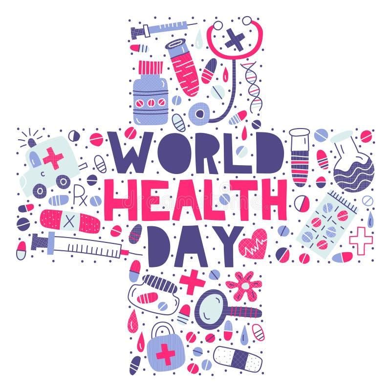 Giorno di salute di mondo immagini stock