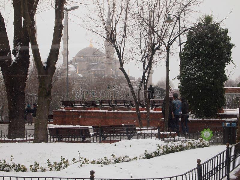 Giorno di Snowy a Costantinopoli immagine stock
