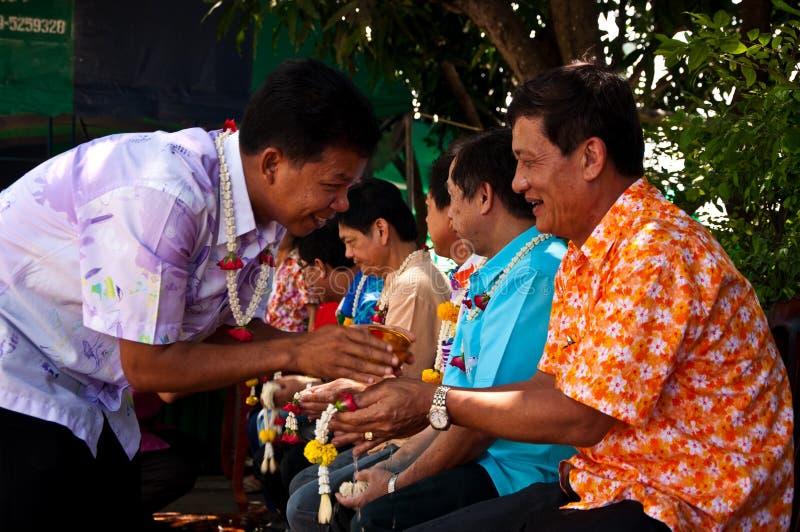 Giorno di Songkran immagine stock