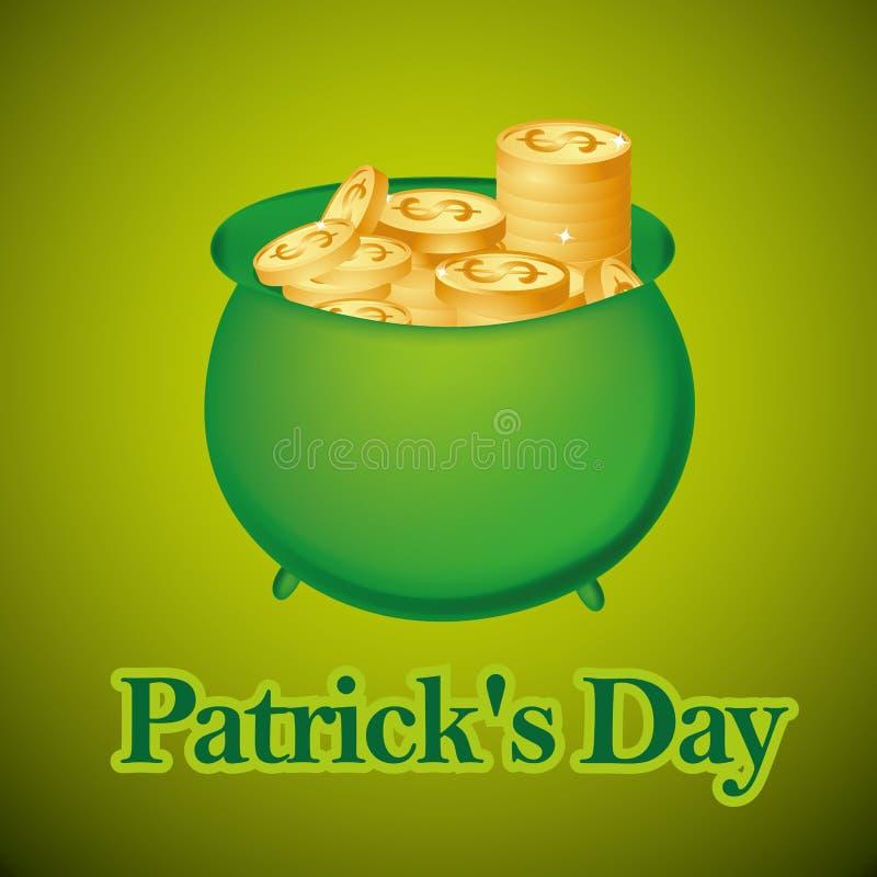 Giorno di st patrick illustrazione vettoriale - St patricks giorno fogli di colore giorno ...