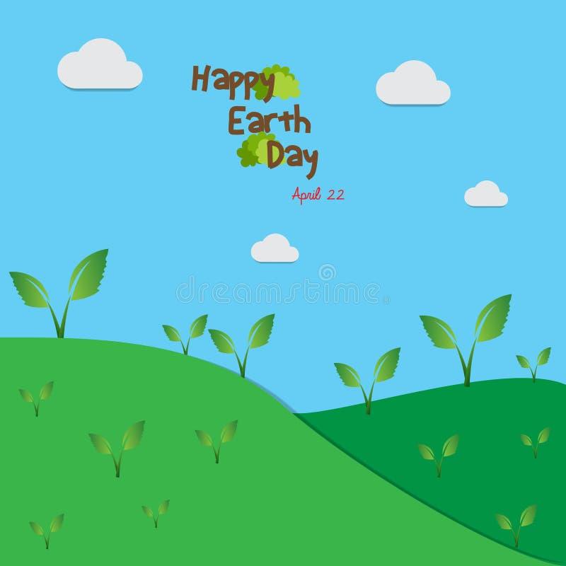 Giorno di terra felice per migliore vita royalty illustrazione gratis