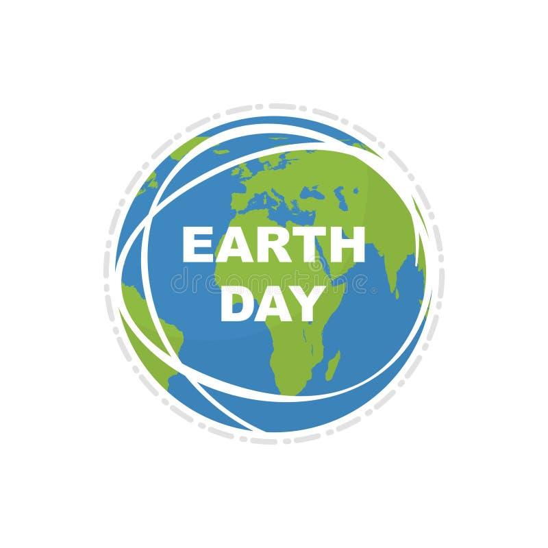 Giorno di terra Mappa della terra Giorno di terra felice dell'illustrazione Stile piano Illustrazione di vettore illustrazione vettoriale