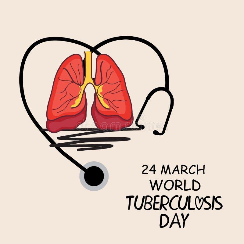 Giorno di tubercolosi di mondo illustrazione vettoriale