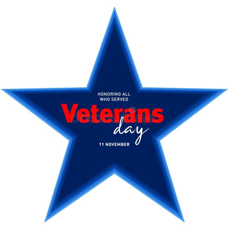 Giorno di veterani Onorando tutti che serviscano 11 novembre backg di festa fotografia stock
