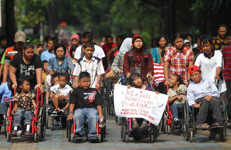 Giorno disabile fotografia stock libera da diritti