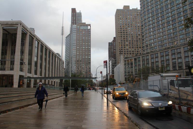 Giorno dopo l'uragano Sandy a New York immagine stock