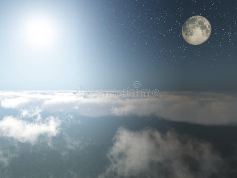 Giorno e notte immagine stock