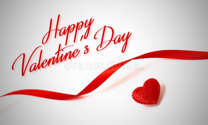 Giorno felice dei biglietti di S Cuore rosso Amore fotografie stock