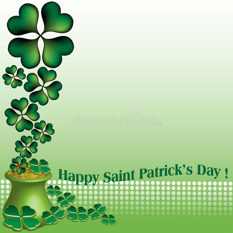 Giorno felice del Patrick santo illustrazione vettoriale