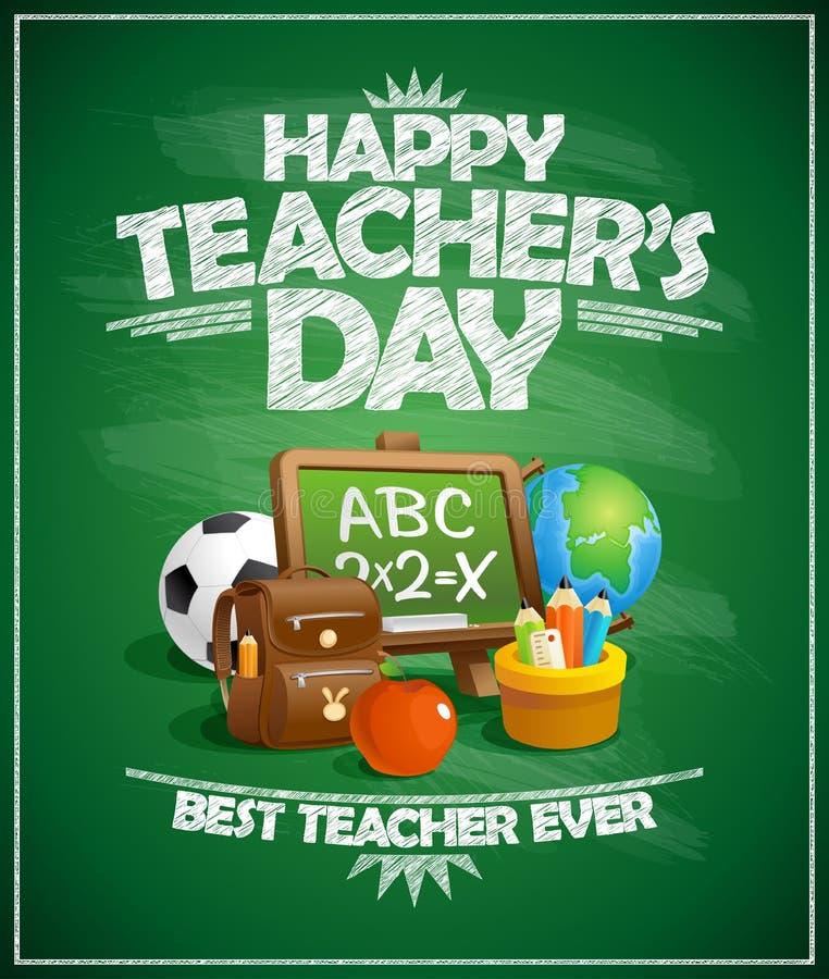 Giorno felice del ` s dell'insegnante royalty illustrazione gratis