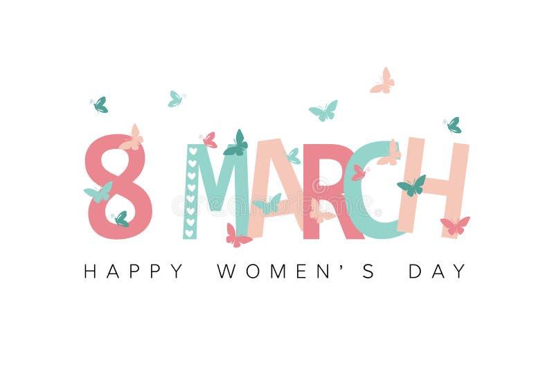 Giorno felice del ` s delle donne illustrazione di stock
