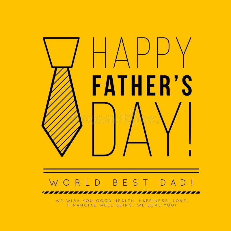 Giorno felice del ` s del padre Congratulazione nello stile alla moda di minimalismo con le forme geometriche illustrazione vettoriale